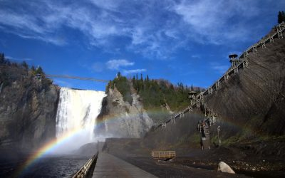 Montmorency Falls and  Île d'Orléans