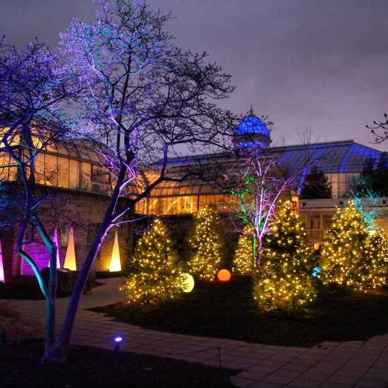 Franklin Park Conservatory - one of the best Christmas lights displays in Ohio