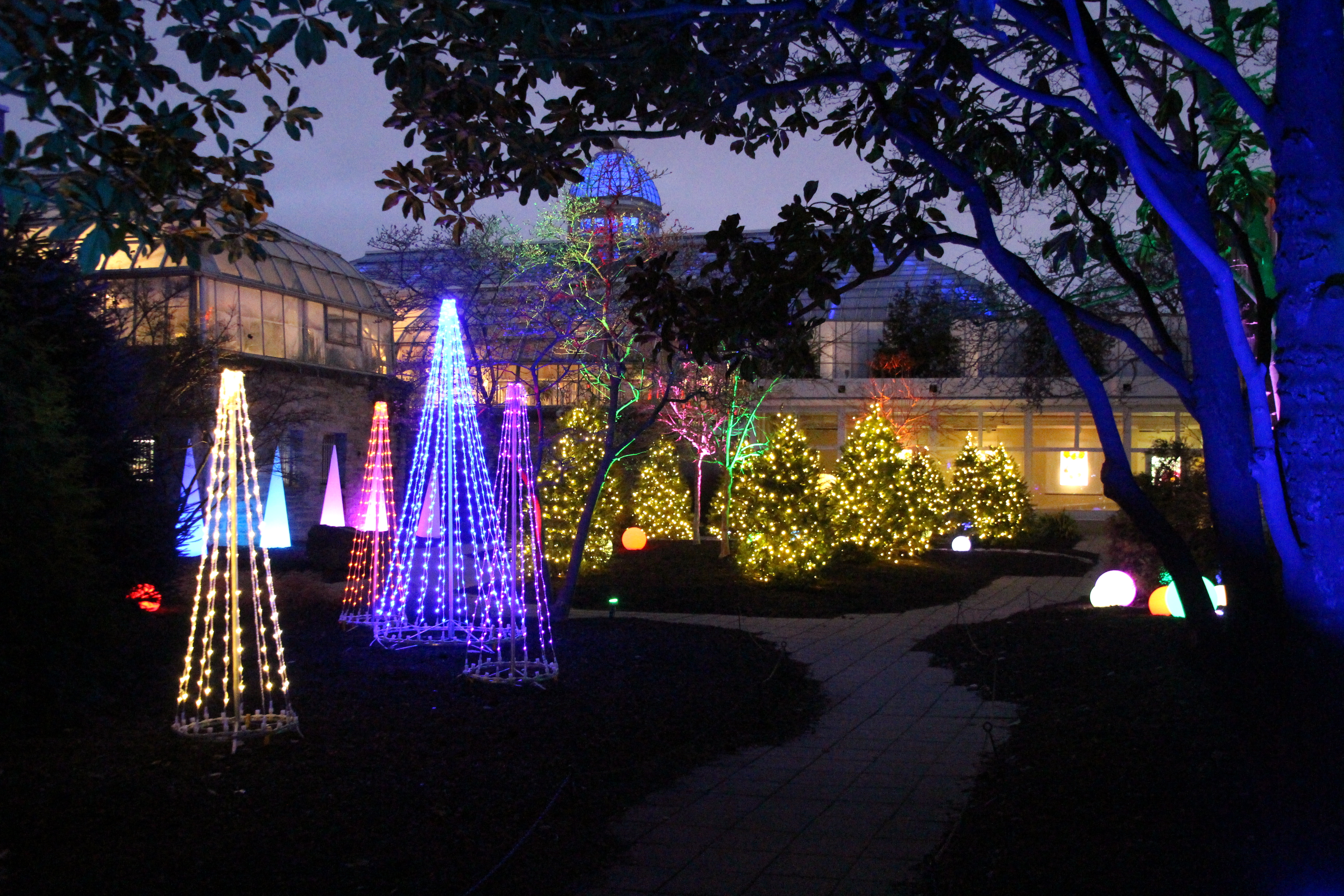 Franklin Park Conservatory Christmas Lights.Franklin Park Conservatory Ohio Girl Travels