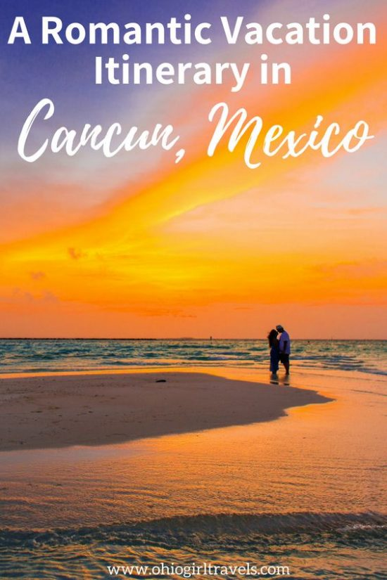 Cancun is a breathtaking beach city in Mexico. Click through to find out the best things to do in Cancun, where to stay in Cancun, why we love all-inclusive resorts in Cancun, and how to have a romantic getaway in Cancun, Mexico. You'll definitely want to save this romantic Cancun itinerary to your travel board. #cancun #mexico #cancunmexico #romanticvacation