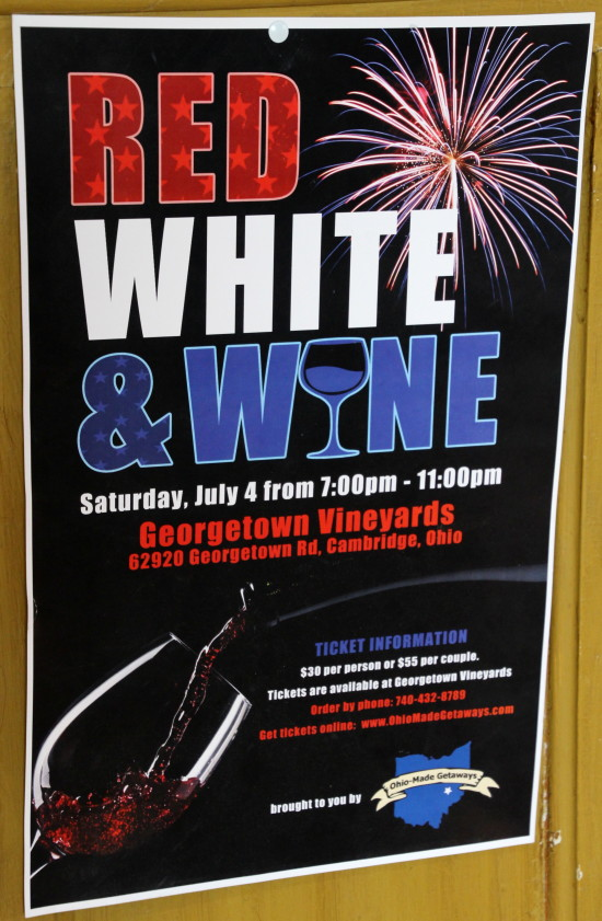 Red, White and Wine at Georgetown Winery ~ www.ohiogirltravels.com