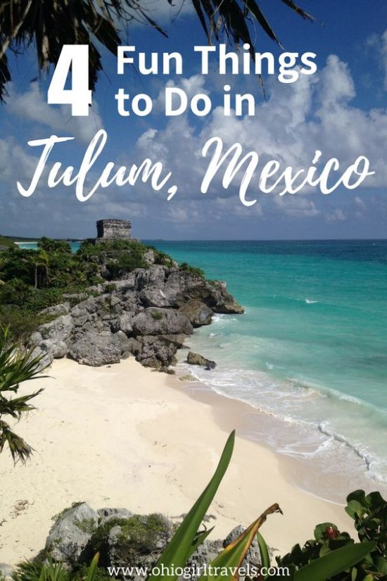 If you're staying in Cancun and looking to venture out of the city, a day trip to Tulum is perfect! We went on an amazing tour in Tulum that included Mayan ruins, beautiful Mexican beaches, zip lining in the jungle, and rappelling! It's the experience of a lifetime and will be a trip you will never forget. Don't forget to save these fun things to do in Tulum to your travel board! #tulum #mexico #tulummexico