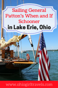 Put-in-Bay, Ohio has so many neat activities to do while you're in the area. We went sailing on Lake Erie in General Patton's When & If Schooner. This Lake Erie activity is fun for all ages and is definitely something you don't want to miss while you're there. Check out what to expect and how to contact the crew of When & If Schooner by clicking on this pin! Don't forget to save it to your travel board when you're finished reading. USA Travel.