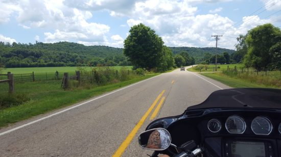 Motorcycle routes in Ohio