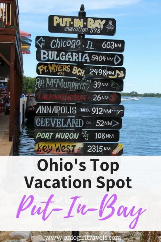 The picturesque village of Put-in-Bay has a nice island vibe that makes it a unique Ohio destination. This island has great bars, restaurants, shops, and outdoor activities to enjoy. One of my favorite parts was the incredible sunsets and beautiful lake views. Check out our guide so you know where to stay, what to do, where to eat and drink, where to shop, and where to explore in Put-in-Bay Ohio. USA Travel. #putinbay #ohio #putinbayohio