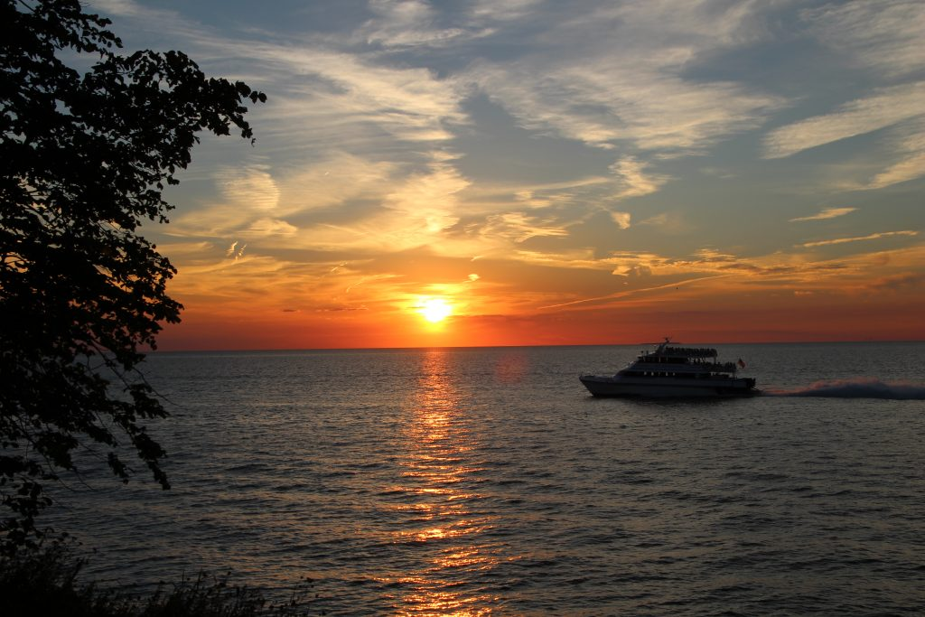 Sunset on Put-in-Bay, Ohio