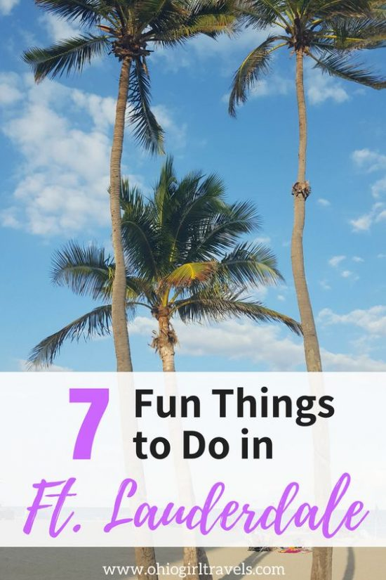 There are so many things to do in Greater Fort Lauderdale, Florida! Check out these 7 things you have to do while you're in Florida. Don't forget to save these things to do in Greater Fort Lauderdale, Florida to your travel board! #ftlauderdale #fortlauderdale #florida #ftlauderdaleflorida