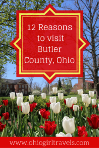 Butler County, Ohio is a short distance from Cincinnati and boasts delicious food, beautiful parks, and huge markets. We know there are many reasons to visit Butler County, Ohio but we're pretty sure it will take 12 or less to convince you to add this to your travel list. Don't forget to save this post to your travel board!