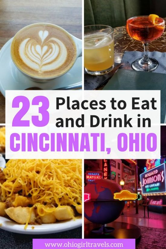If you're anything like us, you want to know where the places to eat and drink in a new city are. We will show you the best restaurants in Cincinnati, the best bars in Cincinnati, the best pubs in Cincinnati, and more. We will make sure you find some delicious food in Cincinnati while you're here. Don't forget to save these food and drink places in Cincinnati Ohio to your travel board so you can find it later. #cincinnati #cincinnatiohio #foodie