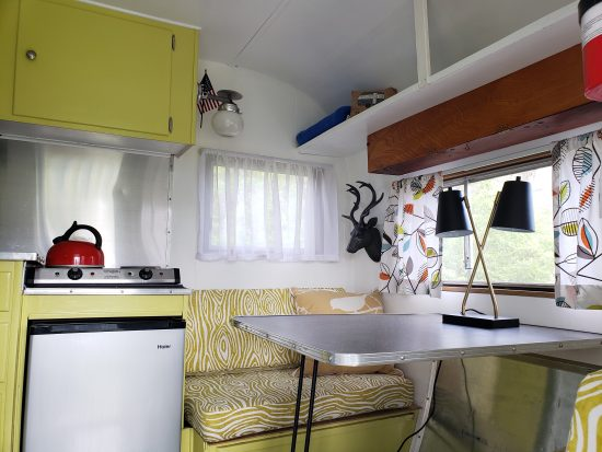 How to spend the night in a vintage camper