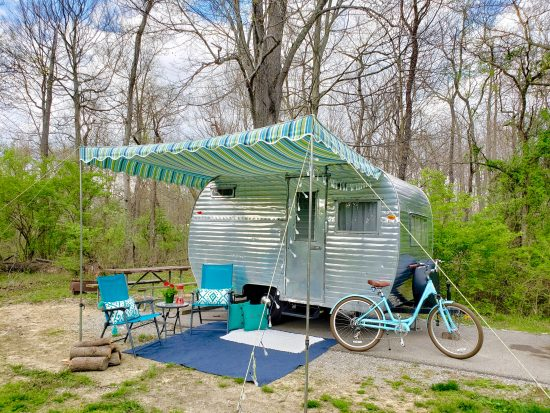 How you can spend the night in a vintage camper
