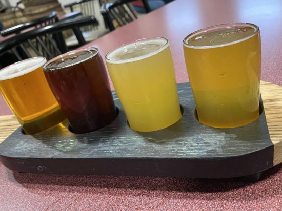 Beer Flight at Helltown Brewing