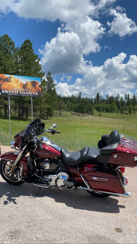 Motorcycle in South Dakota